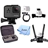 GoPro Hero 5 Action Camcorder Camera + Hard Case + Chest Strap Mount + Head Strap Mount + Accessories (Strap Kit)