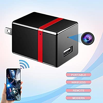 Hidden Camera, Spy Camera Wireless Hidden Spy Wifi Mini Nanny Cam Wall Charger for Home Security Surveillance System HD 1080P Motion Detection ieleacc from ieleacc