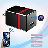 Hidden Camera, Spy Camera Wireless Hidden Spy Wifi Mini Nanny Cam Wall Charger for Home Security Surveillance System HD 1080P Motion Detection ieleacc