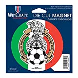 WinCraft SOCCER Mexican National Soccer WCR26628011 Die Cut Magnet, 4.5'' x 6''