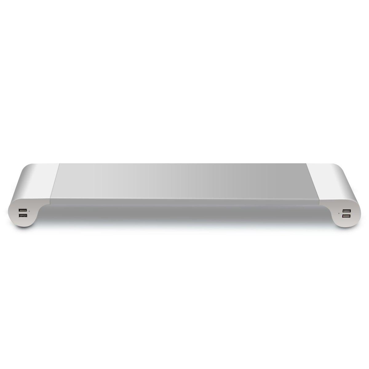 Base minimalista para portátil o monitor con puertos USB
