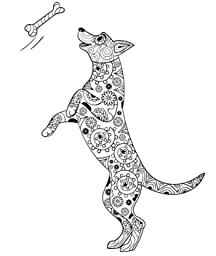 Amazon Dog Lover Adult Coloring Book Best Coloring