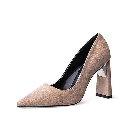 zapatos mujer tacones altos suede cuero cerrado toe bombas wedding stage  party work nightclub casual sandalias  Amazon.es  Deportes y aire libre ce6c5747c2af