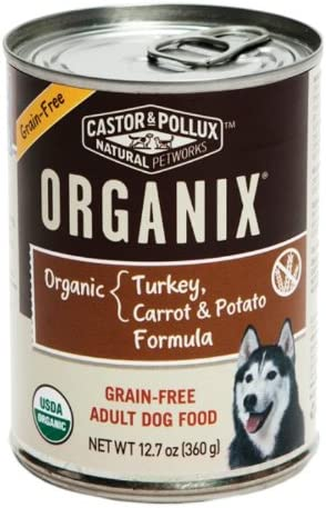 Castor Pollux Organix Grain Free Turkey Carrot And Potato Adult Dog Food 12 7 Ounce Cans Pack Of 6