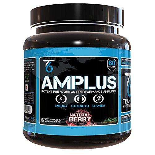AMPLUS supplément naturel de pré-entraînement - médecin formulé avec des ingrédients éprouvés cliniquement Trademarked, soutenue d'énergie & augmente la Production de l'ATP, saveur tout-naturel - Berry, 618 grammes