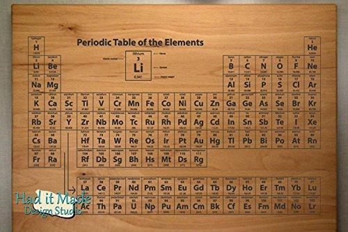 Periodic Table - Personalized Monogram Cutting Board, Engraved Cutting Board, Custom Cutting Board, Wood Cutting Board