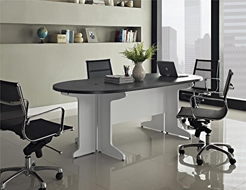 Ameriwood Home Pursuit Small Conference Table Bundle, Gray