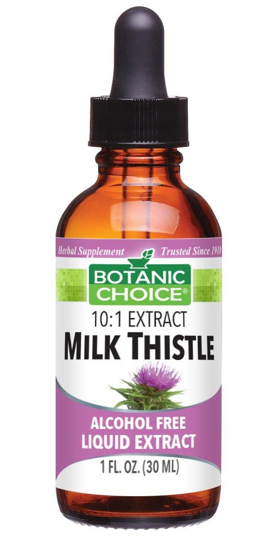 Botanic Choice Milk Thistle Alcohol Free Liquid Extract, 1 Fluid Ounce
