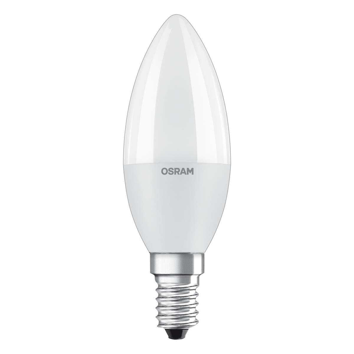 Osram LED SuperStar Classic B Lampe, in Kerzenform mit E14-Sockel, dimmbar, Ersetzt 40 Watt, Matt, Warmweiß - 2700 Kelvin, 1er-Pack Ledvance 4052899904415