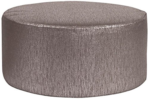 Howard Elliott 132-236 Universal Round Ottoman, 36-Inch, Glam Zinc (Elliott Table Lamp)
