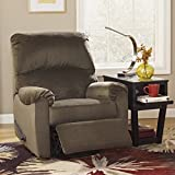 Ashley Furniture Signature Design – McFarin Manual Recliner – Swivel Glider – 1 Pull Reclining – Umber Brown Review