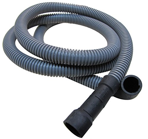 Plumb Pak PP850-12 Dishwasher Discharge HOSE 5/8-Inch, 76-Inch, Grey, 90° End,