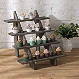 MyGift 4-Tier Rustic Vintage Gray Wood Retail