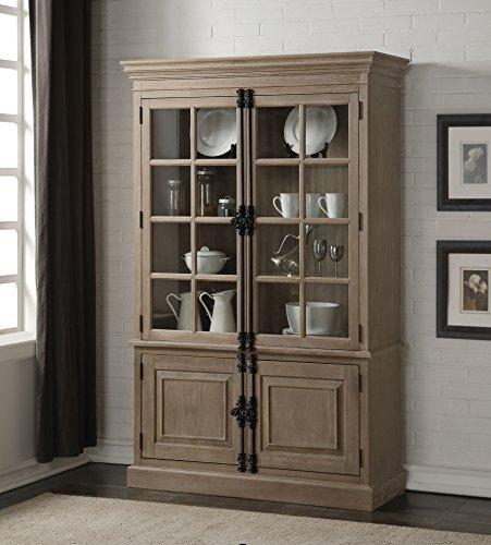 Acme Furniture Eleonore Curio Cabinet, Weathered Oak