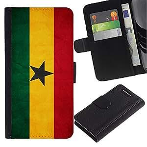"""Be-Star la tarjeta de Cr¨¦dito Slots PU Funda de cuero Monedero caso cubierta de piel Para Sony Xperia Z3 Compact / Z3 Mini (Not Z3) ( Bandera nacional de la Serie-Ghana"""" )"""