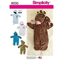 Simplicity Baby Sewing Pattern 8030 Snuggle Bunting Bags & Hat