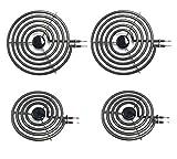 Siwdoy (Pack of 4) MP22YA Electric Range Burner Element Unit Set - 2 pcs MP15YA 6' and 2 pcs MP21YA 8'