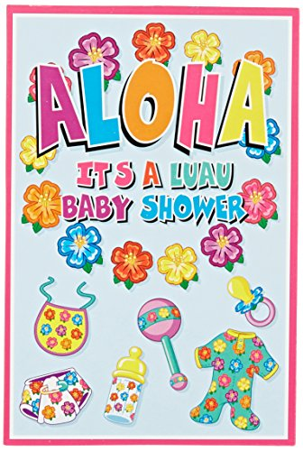 Hula Baby Invitations (envelopes included)    (8/Pkg) ()