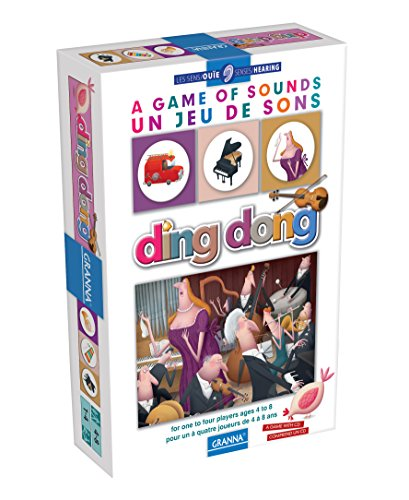 Ding Dong: A Game of Sounds Bilingual Edition Board Game with CD