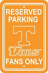 NCAA Tennessee Volunteers 12-by-18 inch Plastic Parking Sign