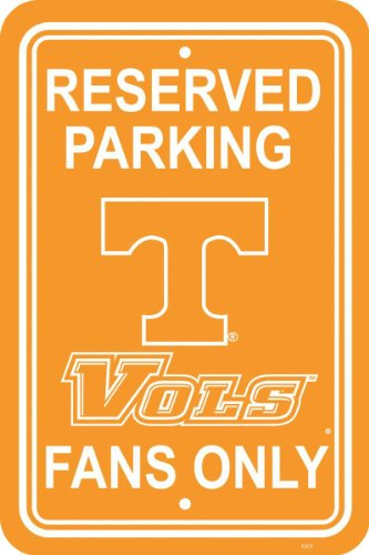 (Fremont Die NCAA Tennessee Volunteers 12-by-18 inch Plastic Parking Sign)