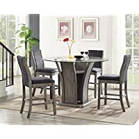 Picket House Furnishings Dylan 5 Piece Round Counter Height Dining Set
