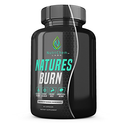 NutriChem Labs NATURES BURN - Natutral Weight Loss Supplement, Appetite Suppressant & Muscle Preserving Fat Burner - 60 Veggie Pills