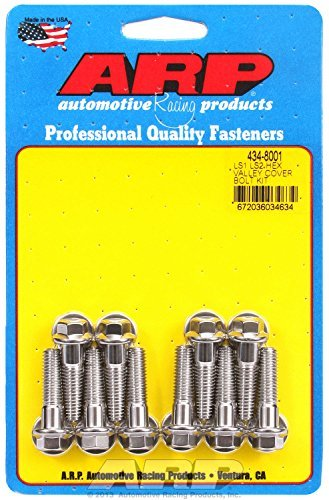 ARP 434-8001 6-Point Stainless Steel Valley Cover Bolt Kit for Chevy LS1/LS2