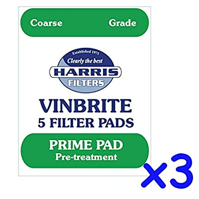3x Harris Prime Pre-Filter Pads 5-pack Use with Harris Vinbrite MK3 Filter Kit