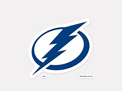WinCraft NHL Tampa Bay Lightning Logo 6 x 6 inch Outdoor White Decal
