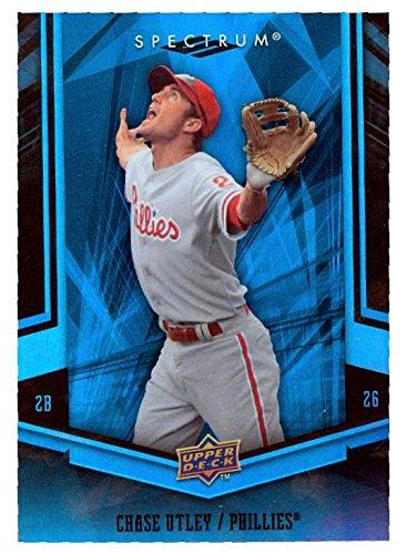 Chase Utley baseball card (Philadelphia Phillies World Series Hero) 2008 Upper Deck Spectrum #74 (World 2008 Baseball Series)