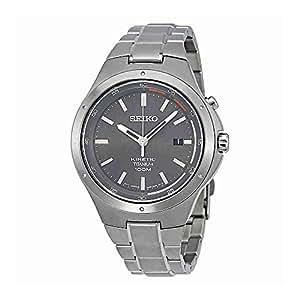 Seiko Kinetic ska713 Gris Dial Titanio Banda Reloj para Hombres por Seiko Relojes: Seiko: Amazon.es: Relojes