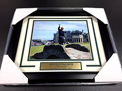 ARNOLD PALMER LAST BRITISH ST ANDREWS OPEN 8X10 PHOTO FRAMED GOLF LEGEND