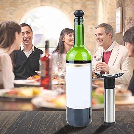Bodhi2000 Tapones Para Botellas De Vino, Tapones Para Botellas De Cerveza Reutilizables, Bomba De Aire Al Vacío Con Conservante Fresco Para Vino Tinto Con 6 Tapones Para Botellas De Silicona