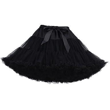 87d737a638 Womens Ruffled Tulle Skirt Tutu Skirts Adult Ruffle Tiered Tutu Skirt  Petticoat Fluffy Layered Frilly Tulle Skirts Tutus Petticoats Ballerina Puffy  Tutu ...