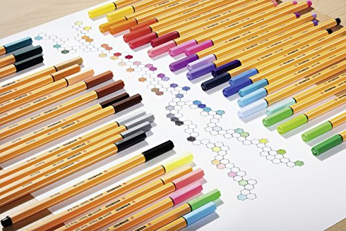 STABILO point 88 fineliner - metal tin of 50 colors - 8850-6 by STABILO (Image #4)