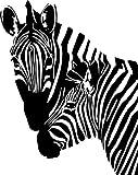 Pair of Zebra Style #2 Vinyl Wall Art Decal