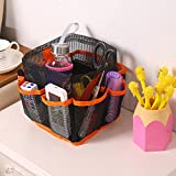 MIJORA-Mesh Shower Tote Wash Bag Bathroom Caddy With 8 Basket Pockets Storage Package(color:orange)