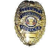 GOLD Security Enforcement Officer / Guard Metal Badge