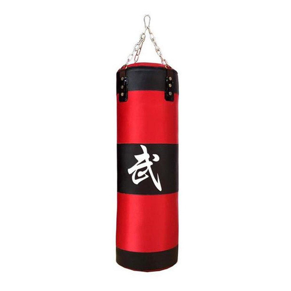 upantech Entrenamiento Boxeo Pesado Saco de boxeo con cadena unisex vacío de boxeo 70cm 80cm 90cm 100cm (Rojo)