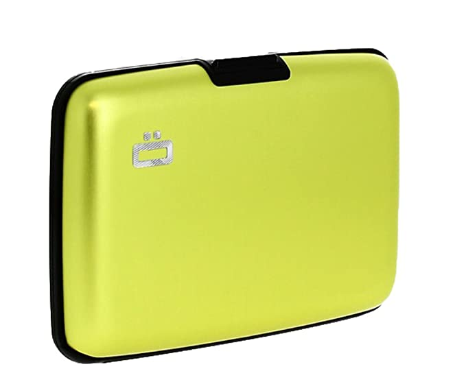 48ddb4ae52be Ogon Aluminum Small Smooth Wallet - Lime Green - Lime Green