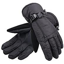 ANDORRA Men's Waterproof Thinsulate Touchscreen Winter Gloves w/ Zippered Pocket and Lens-Wiper Thumbs