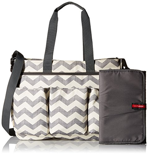 skip hop duo double signature diaper bag chevron import it all. Black Bedroom Furniture Sets. Home Design Ideas