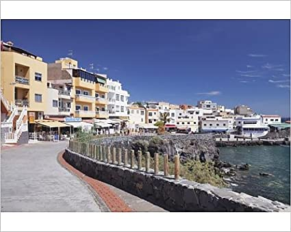 10x8 Print of Promenade at the port, Los Abrigos, Tenerife, Canary Islands,