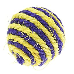 Bilipala Sisal Pet Cat Toys Balls, Cat Ball Toy, Pet Toys for Cats, Cat Scratcher, 6 Counting