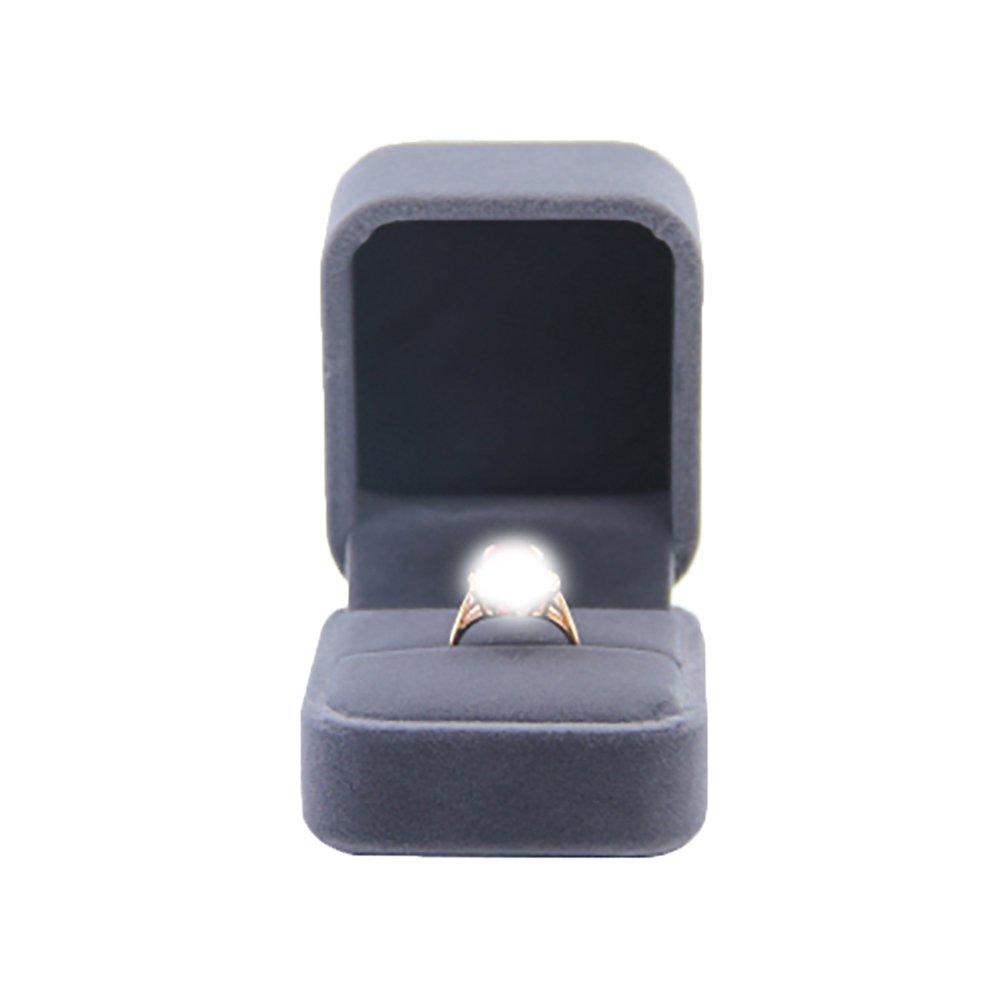 Leisial Impegnato Scatola ad anelli Classico Coppie Nozze flanella Cassa ad anello Femmina Gioielli Scatola di immagazzinaggio Confezione Regalo Casella di visualizzazione