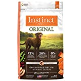 nature best dog food - Instinct Original Grain Free Recipe with Real Salmon Natural Dry Dog Food by Nature's Variety, 20 lb. Bag
