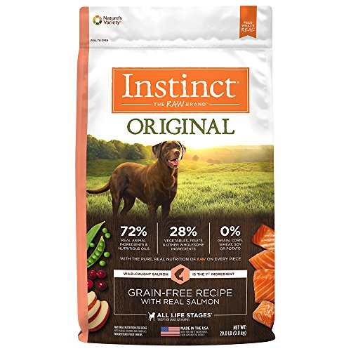Instinct Original Grain Free Recipe with Real Salmon Natural Dry Dog Food by Nature's Variety, 20 lb. Bag