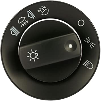 Oferta amazon: Cikuso Cubierta del interruptor de faro de niebla de coche para Audi A4 B6 B7 / regulador de intensidad de salpicadero/Interruptor de regulador de intensidad de faro