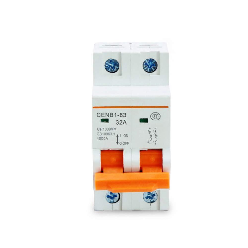 Leistungsschalter 2P Dc 1000V Solar-Trennschalter Dc-Trennschalter10A 16A 25A 32A 40A 50A 63A Sicherungsautomat